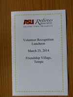 2014 March Volunteer Recognition